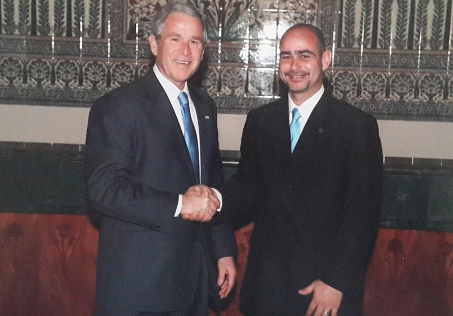 Former President Bush with Sentinel Security Plus